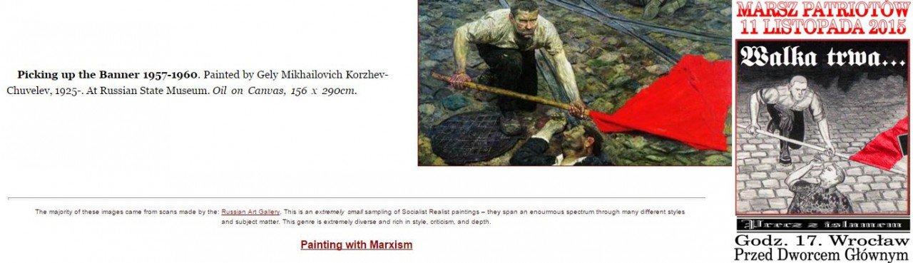 komunistyczny plakat nop