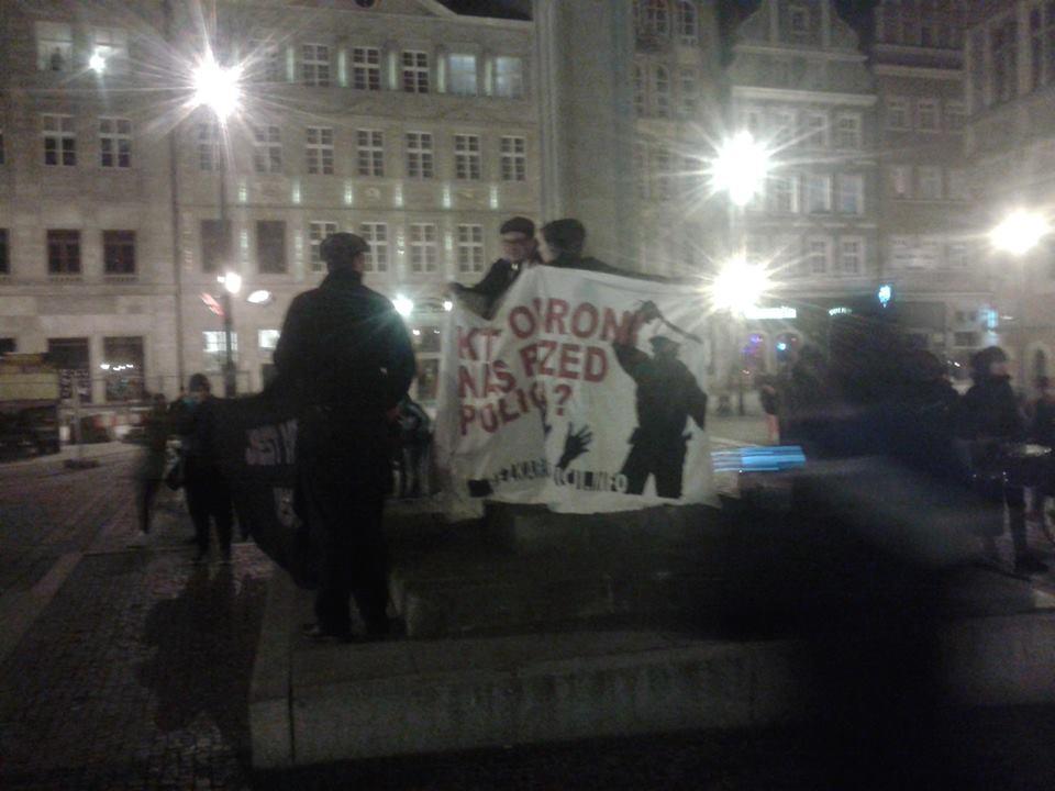 Pikieta solidarnościowa z Katowickim antykongresem rozbita przez policję
