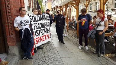 Protest ZSP pod Złym Mięsem (maj 2016)