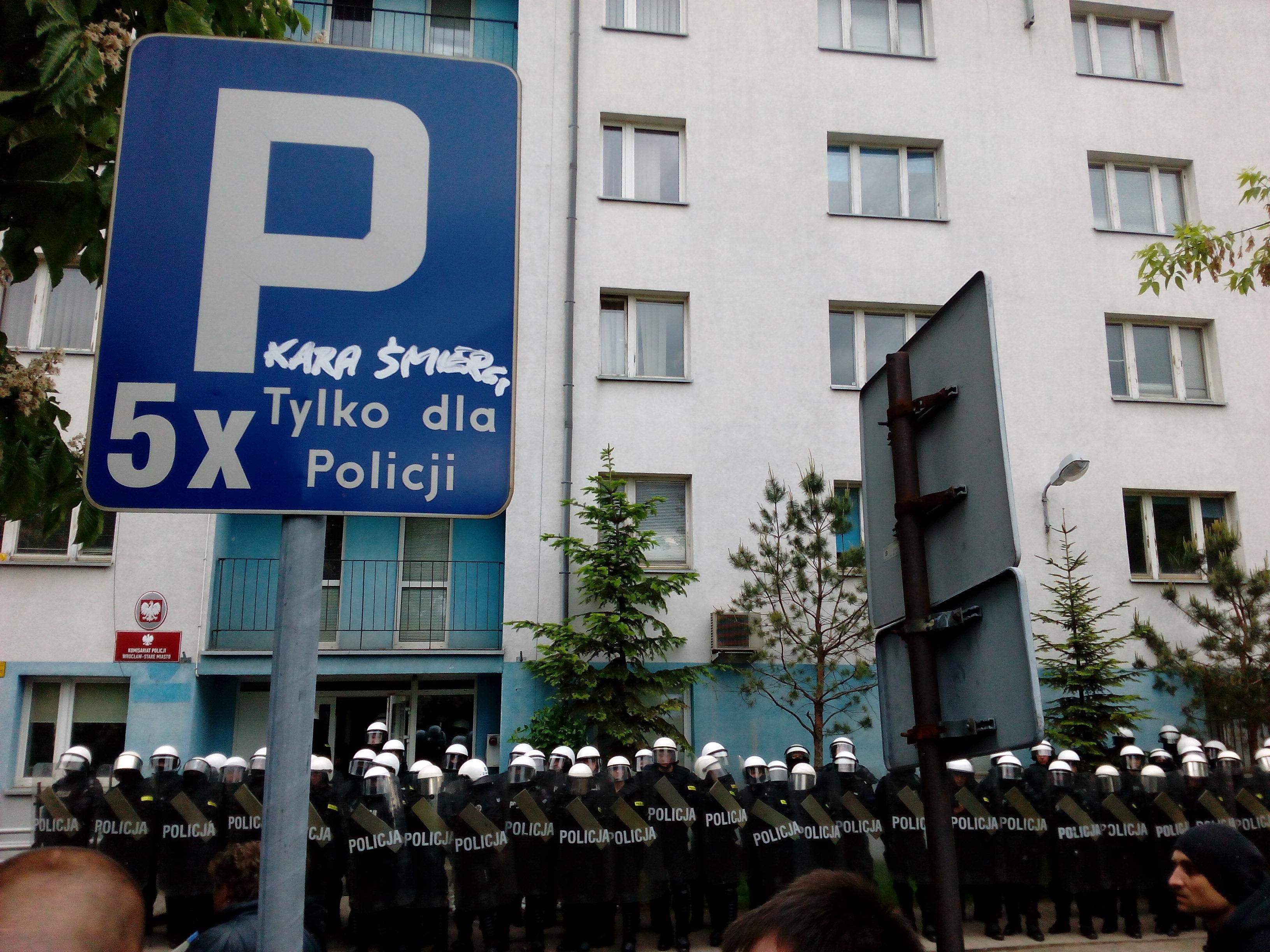 Przeciwko bezkarności policji – Trzemeska Wrocław (17.05.2016)