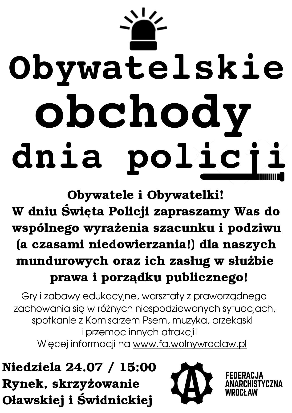 Plakat zapraszający na uroczystość
